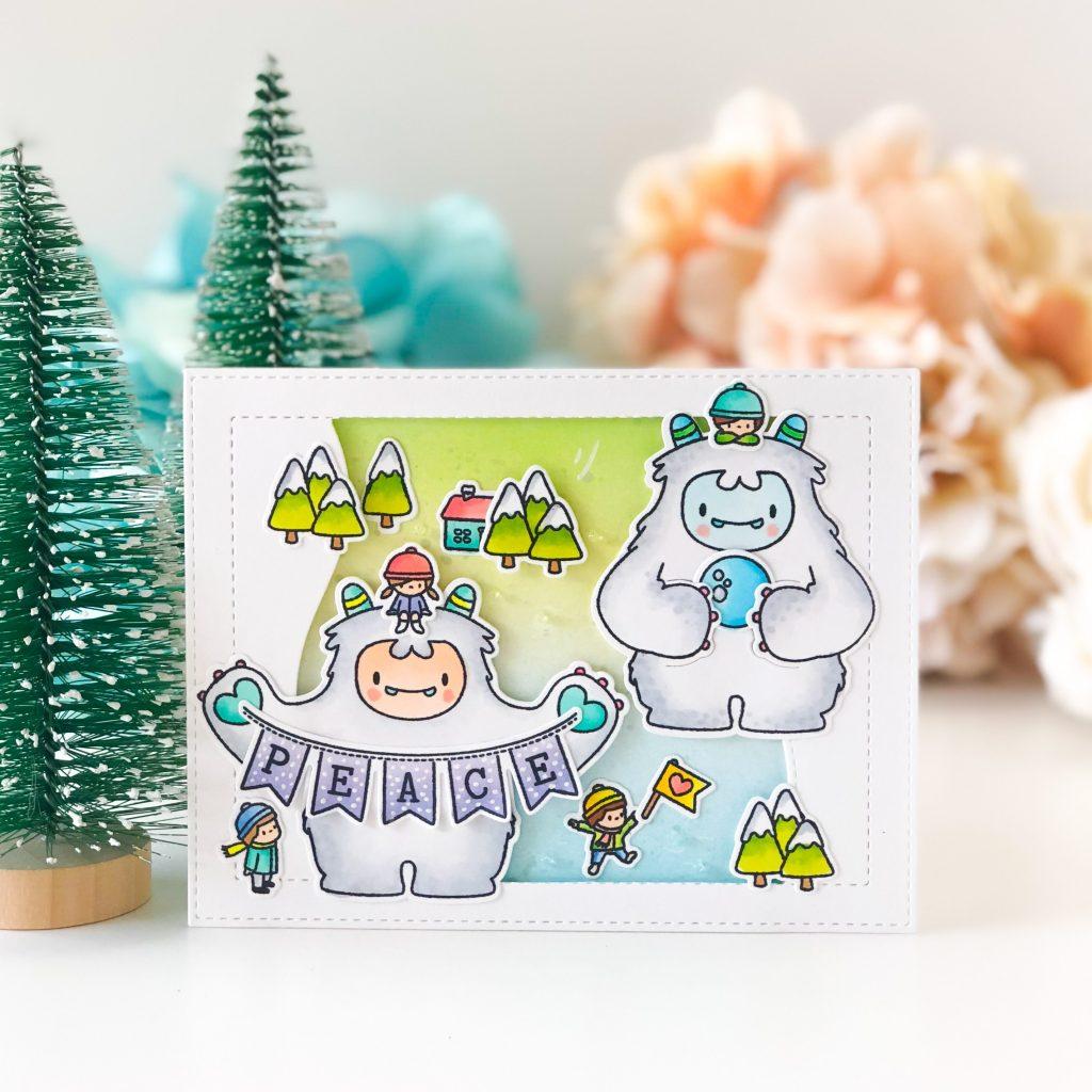 Peace from Yeti – Mama Elephant Guest Designer Call   Alix\'s World