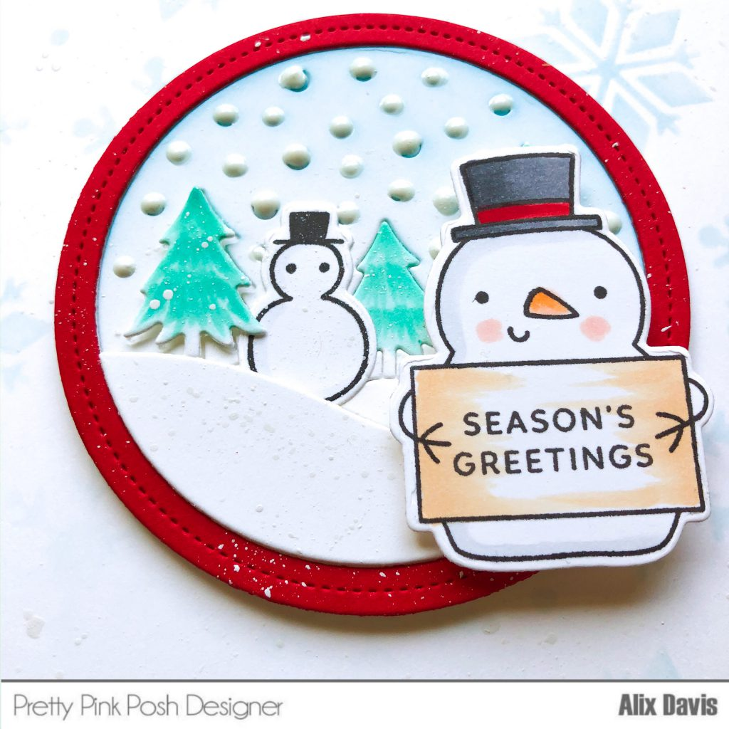 3 Pretty Red Snowmen Die Cuts For Crafts